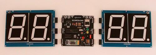 Bluetooth Controlled Digital Scoreboard based on Scoreduino-B (6)