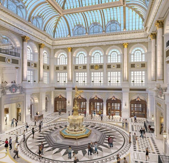 澳門倫敦人 The Londoner Macao Crystal Palace_from above