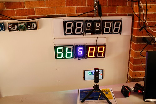 SCORE5 Arduino based Digital Scoreboard with Common anode Seven segments display (7)
