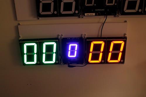 SCORE5 Arduino based Digital Scoreboard with Common anode Seven segments display (8)