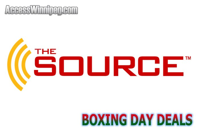 The Source Boxing Week Deals 2020