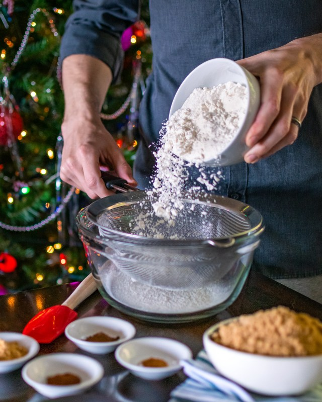 sifting flour helps remove any lumps