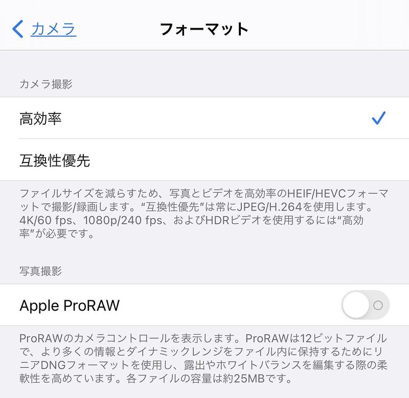 Apple ProRAW setting 01