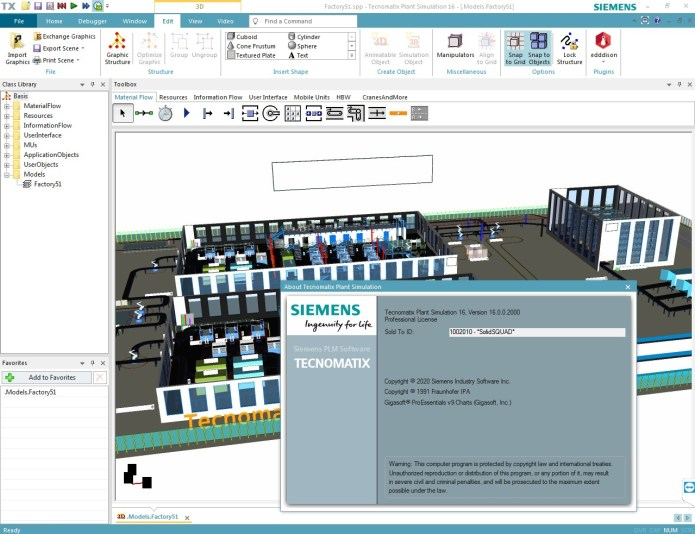 Working with Siemens Tecnomatix Plant Simulation 16.0.0 full