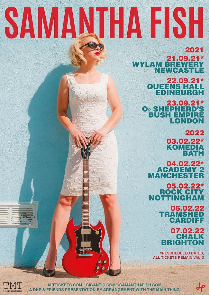 Samantha Fish reschedules UK tour and adds extra shows