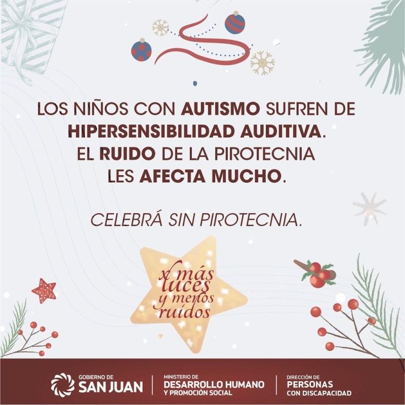 2020-12-22 DESARROLLO HUMANO: Campaña Más Luces, Menos Ruidos para personas con Autismo