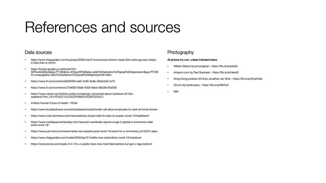 References and sources