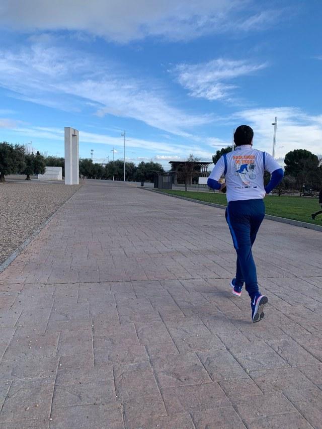 Corriendo en el Juan Carlos I