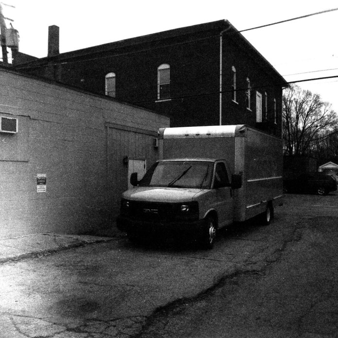 Box truck in the alley