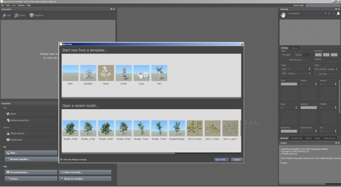 Working with SpeedTree Cinema v8.4.2 full