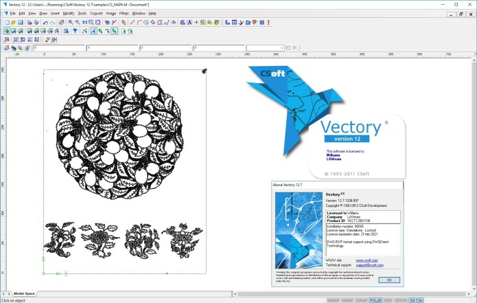 Working with CSoft Vectory v12.7.1206 full