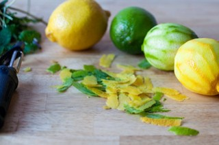 zest the lemons and limes