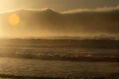 surf & clouds--Carmel Beach, CA