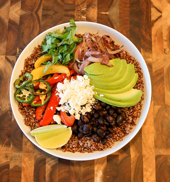 Quinoa Protein Burrito Bowl #AncientHarvest #MySillyLittleGang