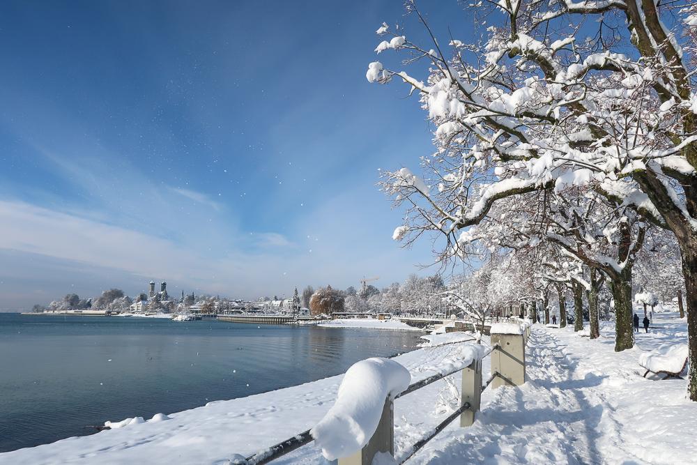 Schnee Spaziergang Friedrichshafen am Bodensee Januar 2021 hyyperlic-36