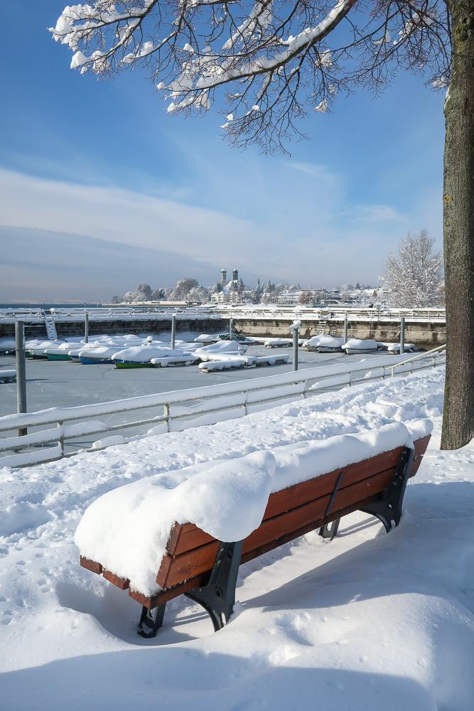 Schnee Spaziergang Friedrichshafen am Bodensee Januar 2021 hyyperlic-31
