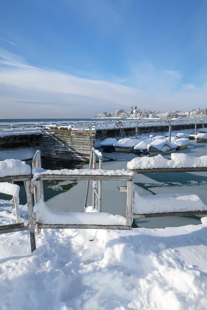 Schnee Spaziergang Friedrichshafen am Bodensee Januar 2021 hyyperlic-24