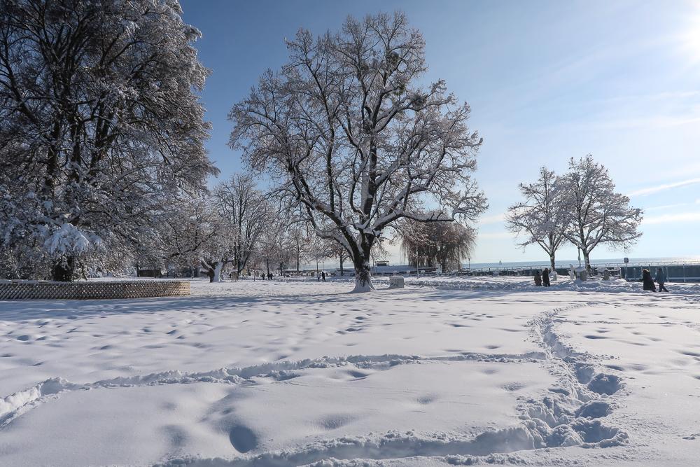 Schnee Spaziergang Friedrichshafen am Bodensee Januar 2021 hyyperlic-53