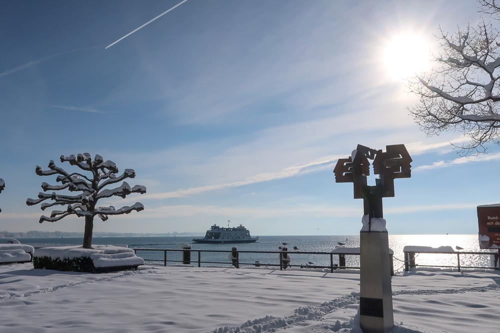 Schnee Spaziergang Friedrichshafen am Bodensee Januar 2021 hyyperlic-15