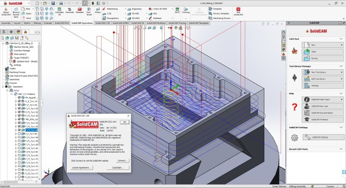 Working with SolidCAMCAD 2021 SP0 Standalone full