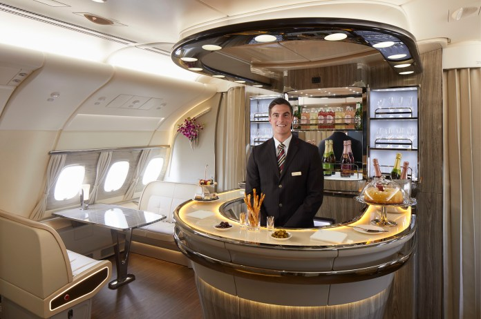 Refreshed A380 Onboard Lounge