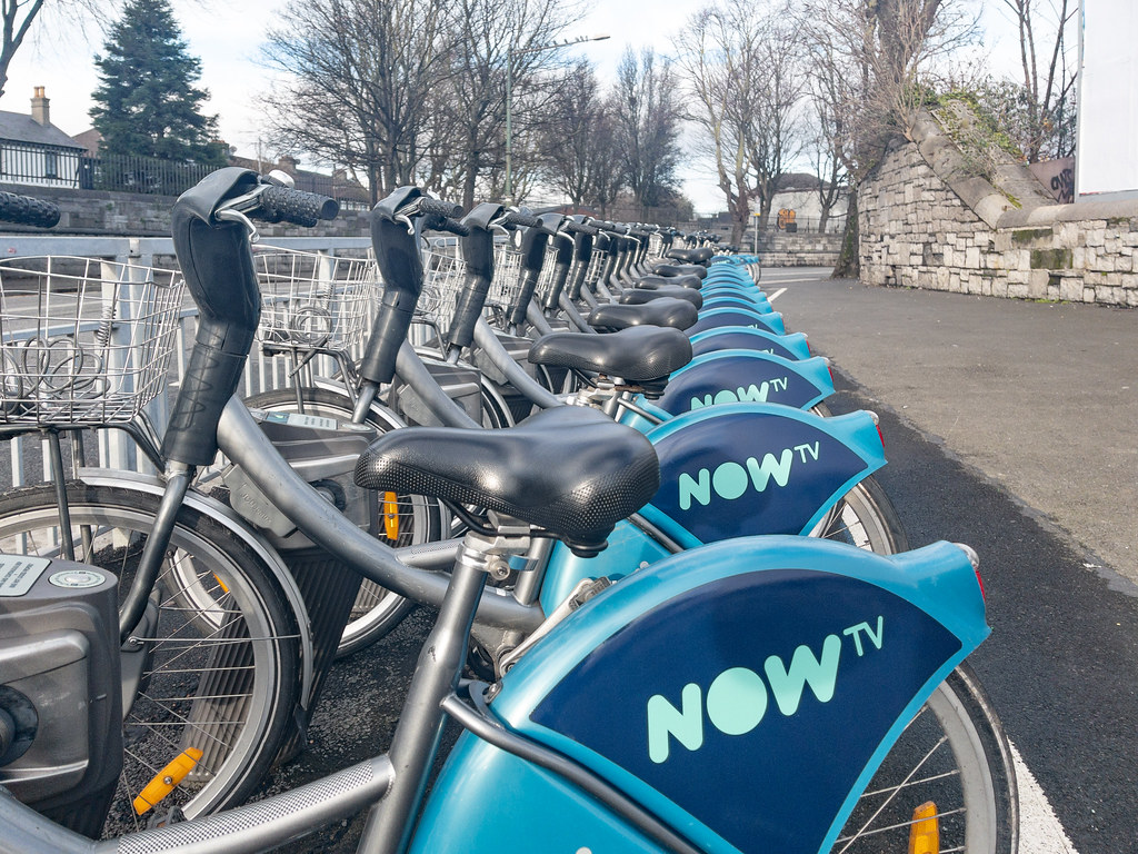 JUST EAT HAS BEEN REPLACED BY NOW TV AS MAIN SPONSOR [DUBLINBIKES DOCKING STATION WESTERN WAY]-169703