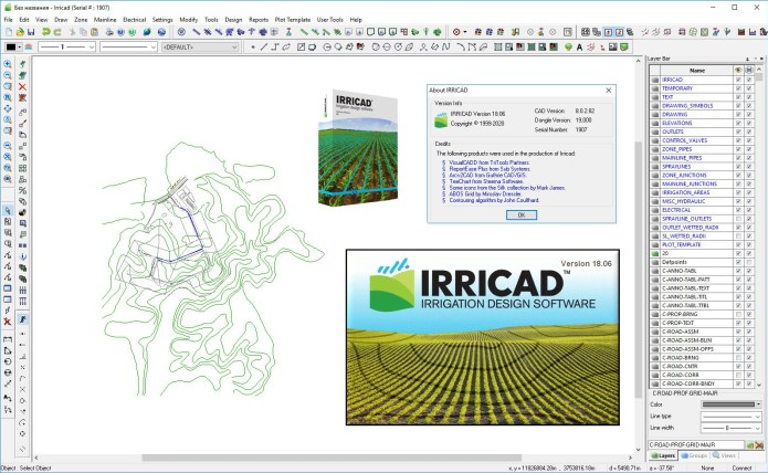 Working with Lincoln Agritech IRRICAD v18.06 full