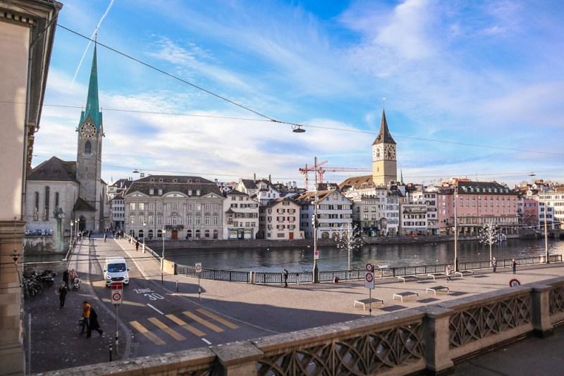 Places with a view in Zürich Switzerland Grossmunster city view Platform blog joydellavita