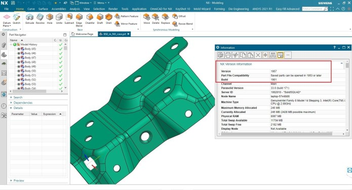 Working with Siemens NX 1957 full