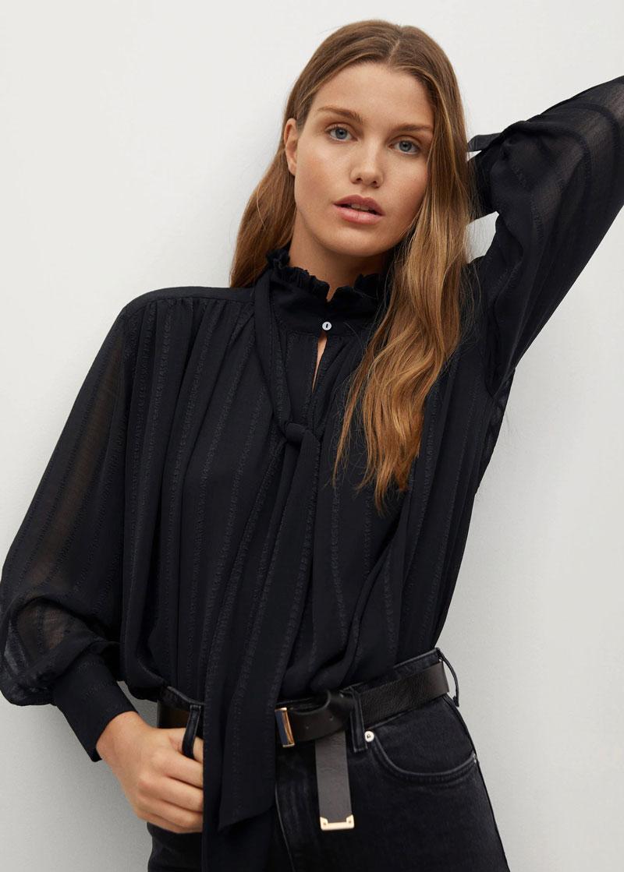 4_mango-sale-flowy-textured-black-blouse