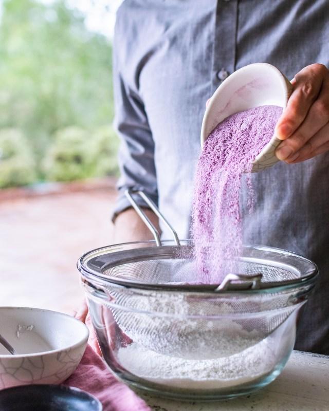 ube powder has a beautiful lavender color