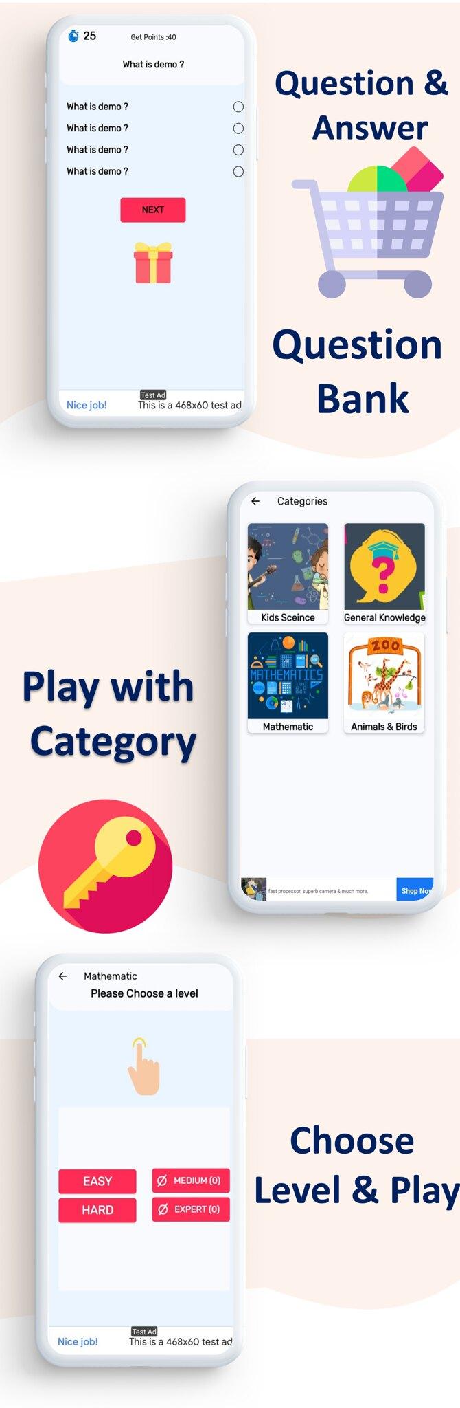 Quiz App   Quiz App   Multi Category   Amob Ads   Facebook Ads   Admin Panel - 5