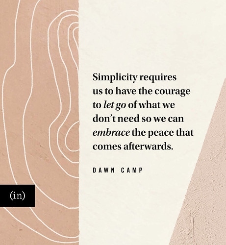 The Peace Found in Decluttering and Simplifying Our Lives at (in)courage