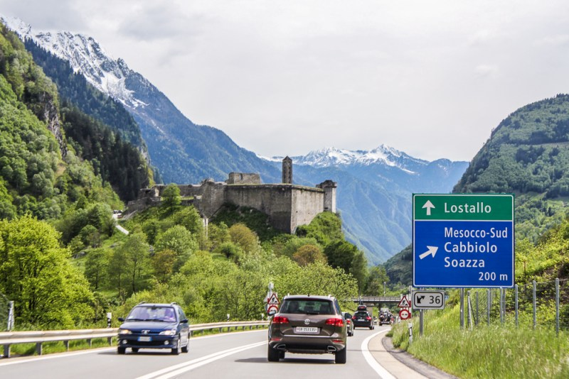 Roadtrip from Switzerland to Italy
