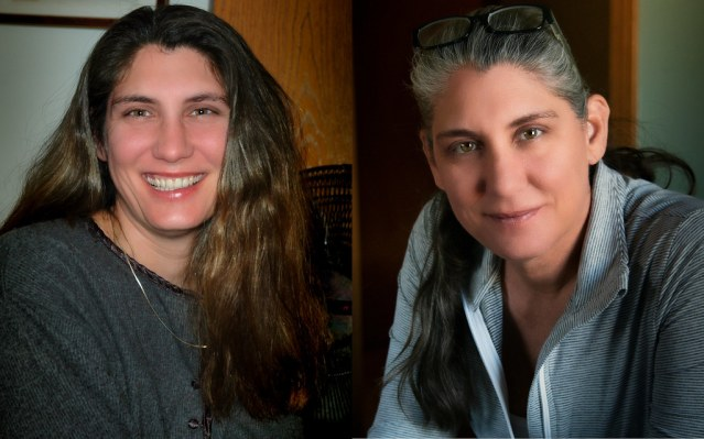 Krissy in 2005, and in 2021.