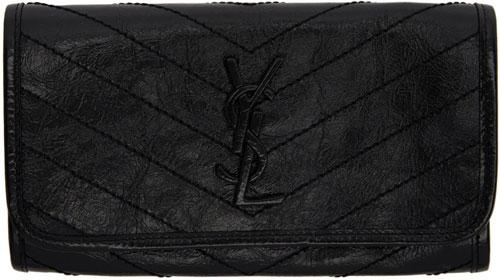 ssense-ysl-niki-saint-laurent-flap-wallet-black-leather