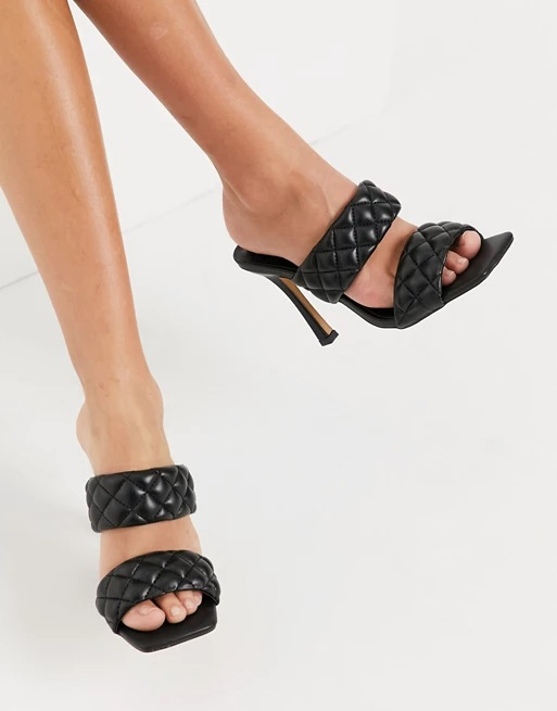 14-asos-black-quilted-mules-sandals