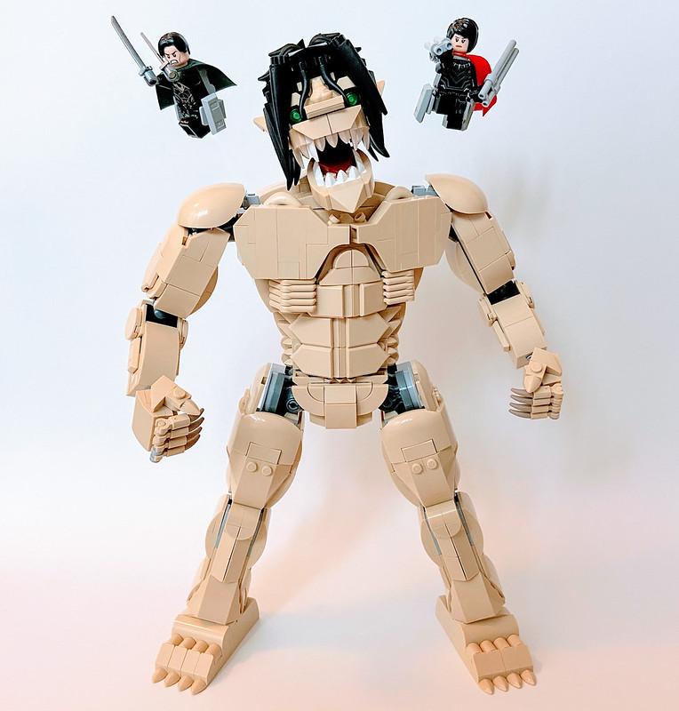 Lego Attack Titan (from Attack on Titan, Shingeki no Kyojin)
