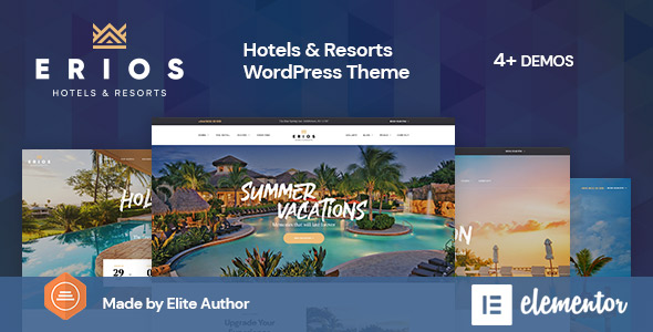 Erios Hotel Resort WordPress Theme Themelexus