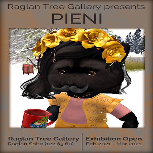 Poster by Panacea Pangaea: An exhibition of works by Pieni for Feb/March 2021