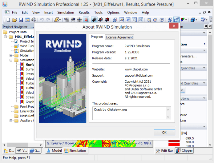 Working with Dlubal RWIND Simulation Professional 1.25 full
