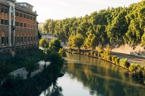 Walking to Trastevere, Rome, Italy