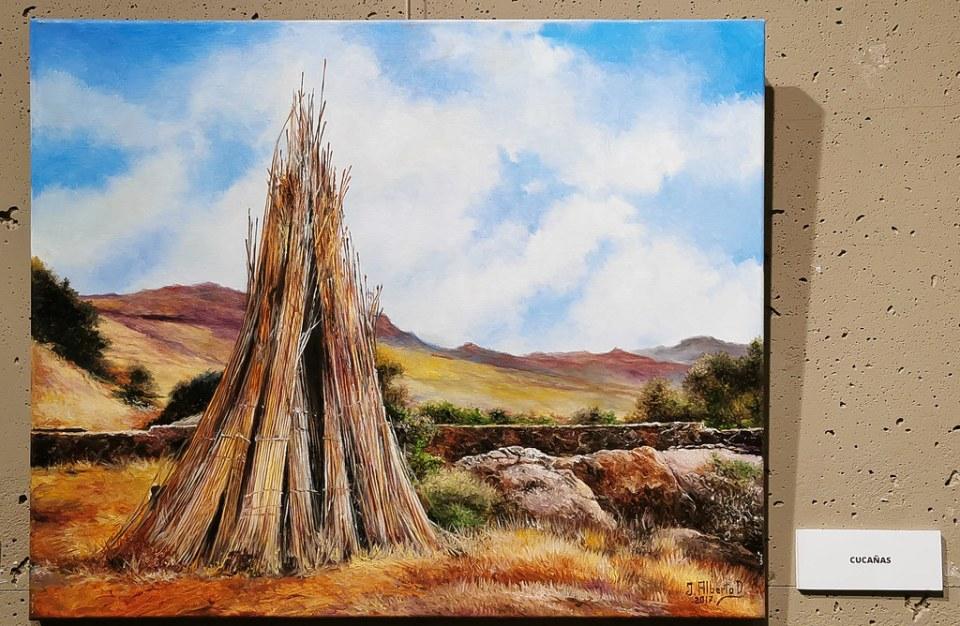Pintura Cucañas Juan Alberto Diaz exposicion ambito cultural Corte Ingles Las Palmas De Gran Canaria