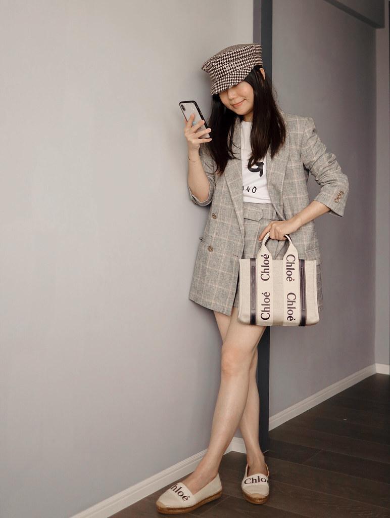 Chloe Woody草編鞋 + Tote小尺寸深藍 + 穿搭分享 + GHD寬版平板夾 + Cettire閃促額外95折