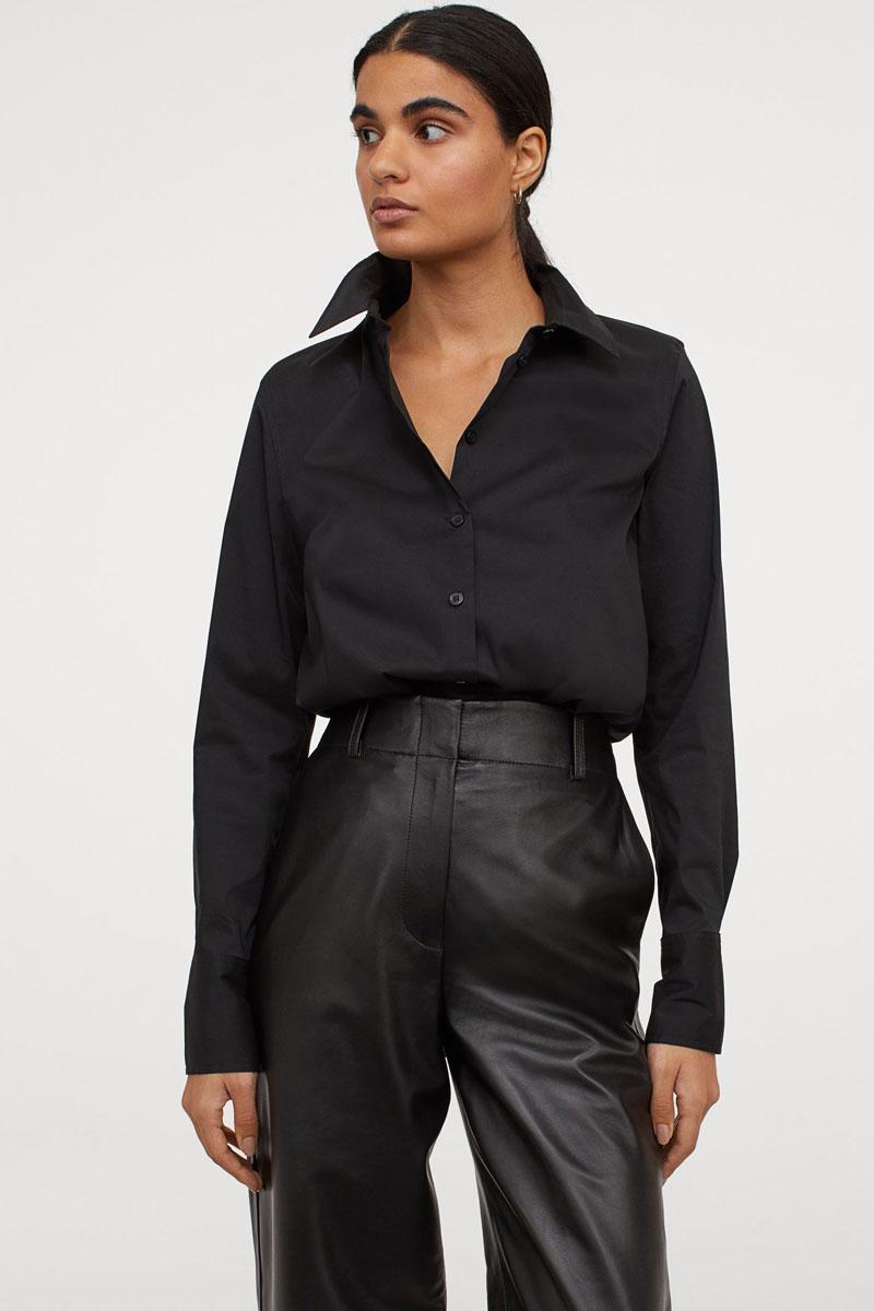 7_hm-black-cotton-shirt