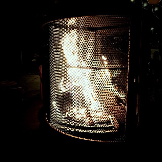 a warm fire
