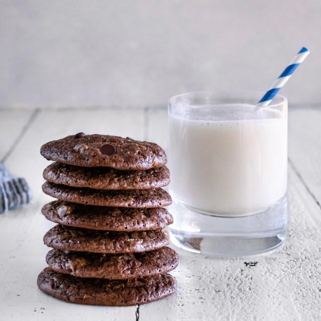triple chocolate fudge brownie cookies