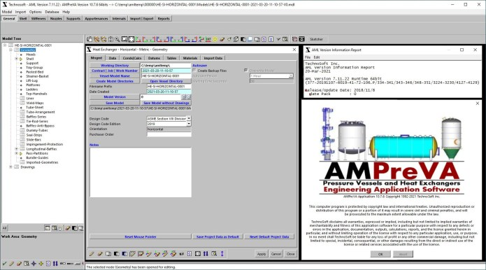 Working with TechnoSoft AMPreVA ME+FEA 10.7.6 full