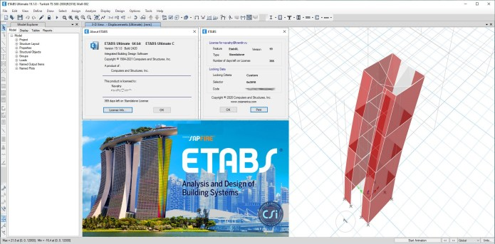Working with CSI ETABS Ultimate 19.1.0 Build 2420 full