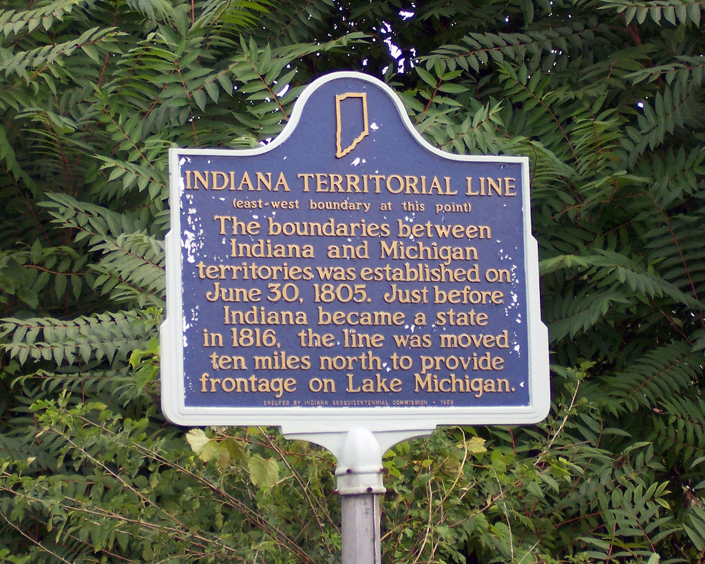 Indiana Territorial Line marker